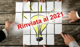 Rinviata al 2021