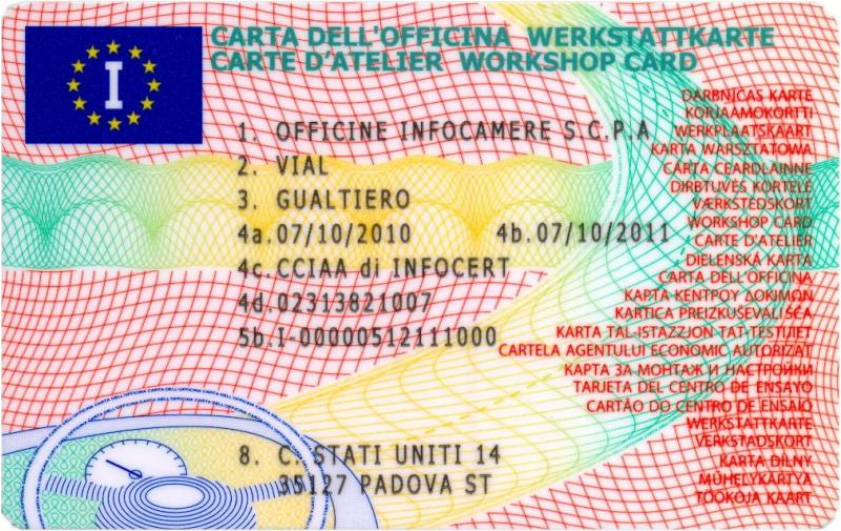 Carta dell'officina